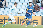 Getafe's Pablo Sarabia (r) and Celta de Vigo's Sergi Gomez during La Liga match. February 27,2016. (ALTERPHOTOS/Acero)