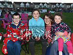 Tracy, Eimear, Niamh and Sean Hackett at the outdoor cinema in Inse Bay Laytown. Photo:Colin Bell/pressphotos.ie