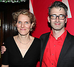 Melissa James Gibson & Daniel Aukin attending the Opening Night After Party for the Atlantic Theater Company's 'What Rhymes with America' at Moran's in New York on December 12, 2012