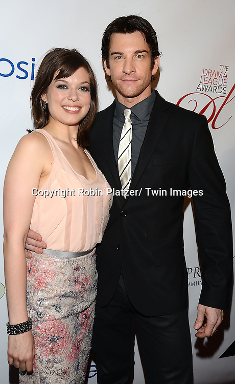 Margo Seibert and Andy Karl attends the 80th Annual Drama League Awards Ceremony and Luncheon on May 16, 2014 at the Marriot Marquis Hotel in New York City, New York, USA.