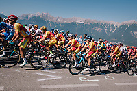 Alejandro Valverde (ESP/Movistar) resided in the bunch for most of the day<br /> <br /> MEN ELITE ROAD RACE<br /> Kufstein to Innsbruck: 258.5 km<br /> <br /> UCI 2018 Road World Championships<br /> Innsbruck - Tirol / Austria