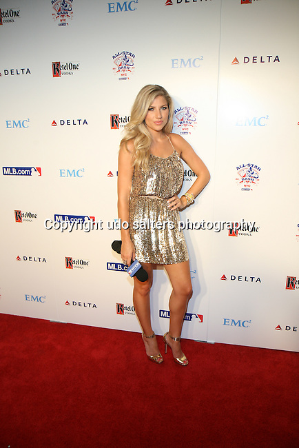 Melanie Collins of Yahoo Sports Attends All-Star Bash Presented by MLB.com Hosted by Alyssa Milano Held at the Roseland Ballroom, NY