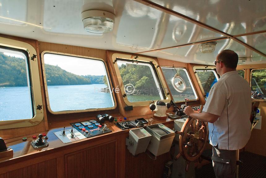 France, Bretagne, Finistère (29), Bénodet, promenade en bateau sur l'Odet // France, Brittany, Finistere, Bénodet, Boat trip on Odet river