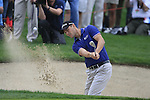Martin Kaymer chips out of a bunker at the 13th green during Day 2 Friday of the Abu Dhabi HSBC Golf Championship, 21st January 2011..(Picture Eoin Clarke/www.golffile.ie)