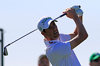 Chesson Hadley (USA) tees off the 1st tee during Saturday's Round 3 of the Waste Management Phoenix Open 2018 held on the TPC Scottsdale Stadium Course, Scottsdale, Arizona, USA. 3rd February 2018.<br /> Picture: Eoin Clarke | Golffile<br /> <br /> <br /> All photos usage must carry mandatory copyright credit (&copy; Golffile | Eoin Clarke)