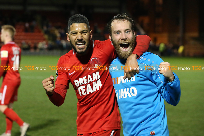 O's capt Jobi McAnuff & James Dayton at ft during Leyton Orient vs Gateshead, Vanarama National League Football at The Breyer Group Stadium on 1st December 2018