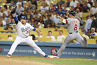 05/13/13 Los Angeles, CA: Los Angeles Dodgers first baseman Adrian Gonzalez #23 in a MLB game played between the Los Angeles Dodgers and the Washington Nationals at Dodger Stadium. The Nationals defeated the Dodgers 6-2