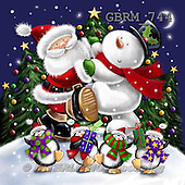 Roger, CHRISTMAS SANTA, SNOWMAN, paintings+++++,GBRM744,#X#