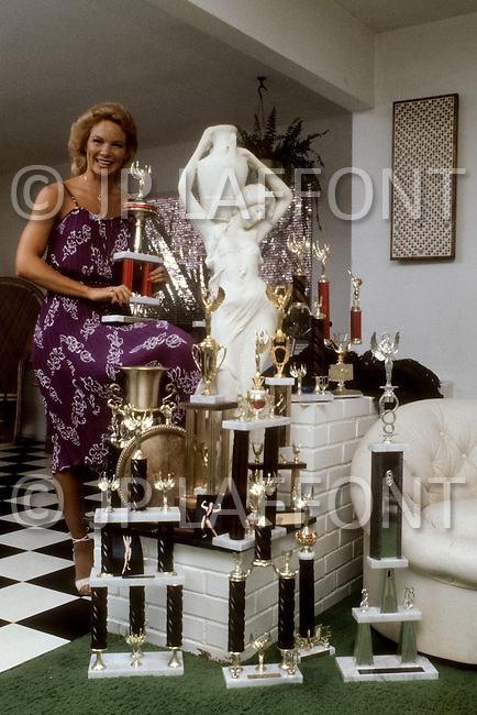 Los Angeles, 1980. Shelley Gruwell, body building star.