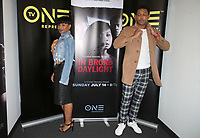 10 July 2019 - Los Angeles, California - Chyna Layne, Curtis Hamilton. LA Press Junket For TV One's A Month Of Love, Lies, And Murder held at TV One Headquarters. Photo Credit: Faye Sadou/AdMedia
