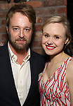 """Joshua Leonard and Alison Pill  during the Opening Night After Party for """"Three Tall Women"""" at the Bowery Hotel on 3/29/2018 in New York City."""