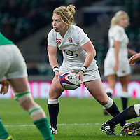 La Toya Mason in action, England Women v Ireland Women in a 6 Nations match at Twickenham Stadium, Whitton Road, Twickenham, England, on 27th February 2016