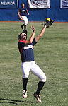 Coronado second baseman Haley Harrison catches a fly ball against Reed High School in the 4A softball state tournament at the University of Nevada, Reno on Friday, May 19, 2012. Coronado won 6-1 to advance to Saturday's championship game. .Photo by Cathleen Allison