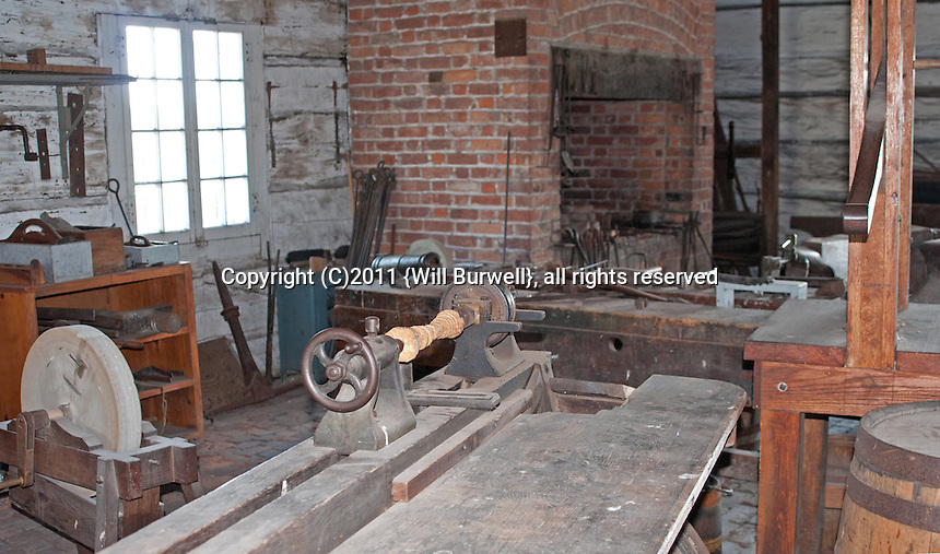 Interior of Artificers Building, Fort George, Niagara-on-the-Lake
