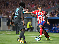 Atletico Madrid´s Argentinean forward Angel Martin Correa during the UEFA Champions League group C match between Atletico Madrid and Chelsea played at the Wanda Metropolitano Stadium in Madrid, on September 27th 2017.