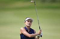Lexi Thompson (USA) in action on the 1st during Round 1 of the HSBC Womens Champions 2018 at Sentosa Golf Club on the Thursday 1st March 2018.<br /> Picture:  Thos Caffrey / www.golffile.ie<br /> <br /> All photo usage must carry mandatory copyright credit (&copy; Golffile | Thos Caffrey)