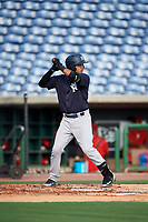 New York Yankees Everson Pereira (21) at bat during a Florida Instructional League game against the Philadelphia Phillies on October 12, 2018 at Spectrum Field in Clearwater, Florida.  (Mike Janes/Four Seam Images)