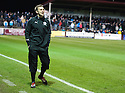 Stirling Albion boss GREIG McDONALD who at the age of 29 is Britain's youngest manager, takes his Stirling Albion side to play Arbroath in the Scottish Football League, Second Division.