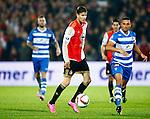 Nederland, Rotterdam, 24 september 2015<br /> KNVB Beker<br /> Seizoen 2015-2016<br /> Feyenoord-PEC Zwolle (3-0)<br /> Michiel Kramer (m.)  van Feyenoord in actie met bal