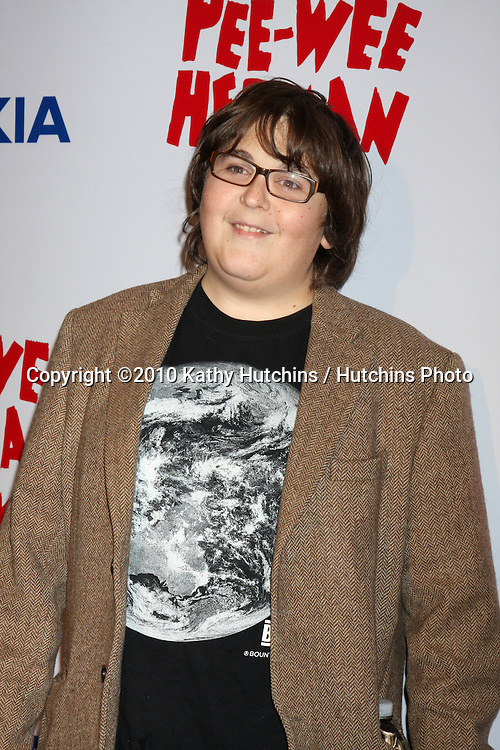 """Andy Milonakis.arriving at the """"The Pee Wee Herman Show"""" Opening Night..Club Nokia.Los Angeles, CA.January 20, 2010.©2010 Kathy Hutchins / Hutchins Photo...."""