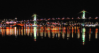 MacDonald Bridge in Halifax Nova Scotia at Night