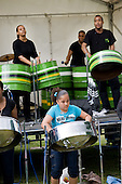 Paddington Arts steel band play at Westbourne Festival, Paddington, London.