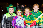 Adam cronin, Holly cronin, Leah McMahon and Cian McMahon at the Kerry team homecoming in Killarney on Monday