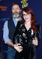 NEW YORK, NY - JUNE 6: Nick Offerman and Megan Mullaly at the New York Premiere of Rooftop Films' Hearts Beat Loud at Pioneer Works in Brooklyn, New York City on June 6, 2018. <br /> CAP/MPI99<br /> &copy;MPI99/Capital Pictures