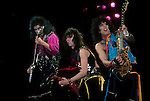Paul Stanley, Gene Simmons & Vinnie Vincent of Kiss.