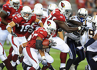 Aug. 22, 2009; Glendale, AZ, USA; Arizona Cardinals running back (36) LaRod Stephens-Howling runs the ball in the second half against the San Diego Chargers during a preseason game at University of Phoenix Stadium. Mandatory Credit: Mark J. Rebilas-