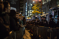 NY, NEW YORK NOVEMBER 09: Hundreds of protesters gather outside Trump Tower to express their disappointment for President-elect Donald Trump in New York November 9, 2016. Photo by VIEWpress/Maite H. Mateo. Photo by VIEWpress/Maite H. Mateo.