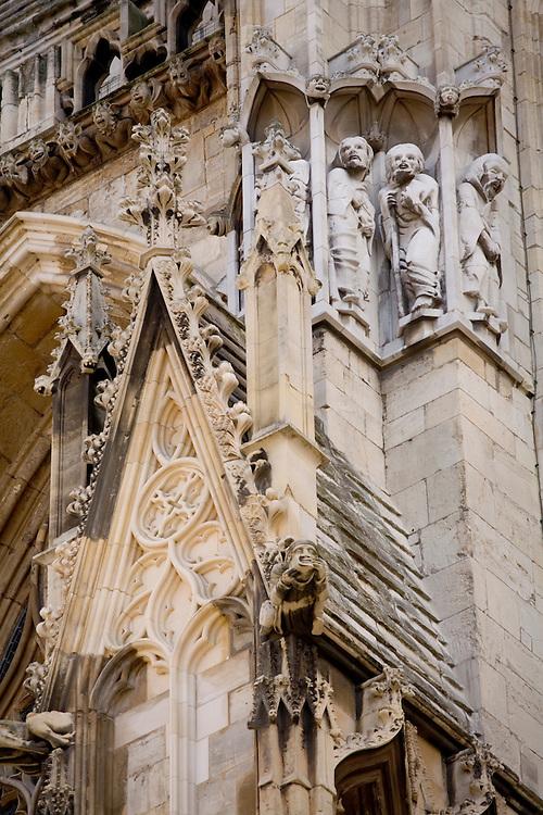 York Minster, England's finest Gothic church in York, England.