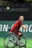 Rotterdam, The Netherlands, 13 Februari 2019, ABNAMRO World Tennis Tournament, Ahoy, first round wheelchair singles, Maikel Scheffers (NED)<br /> Photo: www.tennisimages.com/Henk Koster