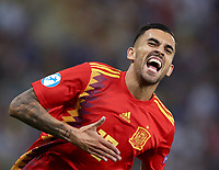 Football:Uefa European under 21Championship 2019, Italy - Spain Renato Dall'Ara stadium Bologna Italy on June16, 2019.<br /> Spain's Dani Ceballos celebrates after scoring during the Uefa European under 21Championship 2019 football match between Italy and Spain at Renato Dall'Ara stadium in Bologna, Italy on June16, 2019.<br /> UPDATE IMAGES PRESS/Isabella Bonotto