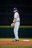 St. Lucie Mets relief pitcher Matt Blackham (24) gets ready to deliver a pitch during a game against the Florida Fire Frogs on April 19, 2018 at Osceola County Stadium in Kissimmee, Florida.  St. Lucie defeated Florida 3-2.  (Mike Janes/Four Seam Images)