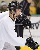 Brian Lee - The University of North Dakota Fighting Sioux took part in the morning skate on Saturday, December 10, 2005, at Ralph Engelstad Arena in Grand Forks, North Dakota.
