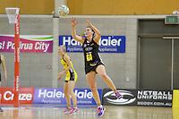 Ellen Halpenny in action during the ANZ Championship 2014 - Haier Pulse v Waikato Magic at Te Rauparaha  Arena Centre, Porirua, Wellington, New Zealand on Monday 5 May 2014. <br /> Photo by Masanori Udagawa. <br /> www.photowellington.photoshelter.com.