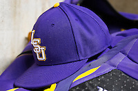 LSU Tigers baseball hat on March 8, 2015 at Minute Maid Park in Houston, Texas. (Andrew Woolley/Four Seam Images)