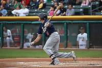 Nick Ahmed (5) of the Reno Aces at bat against the Salt Lake Bees at Smith's Ballpark on May 5, 2014 in Salt Lake City, Utah.  (Stephen Smith/Four Seam Images)