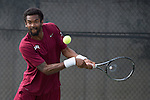 April 23, 2015; San Diego, CA, USA; Loyola Marymount Lions tennis player Charles Boyce during the WCC Tennis Championships at Barnes Tennis Center.