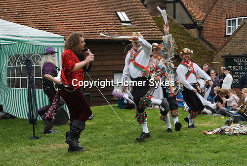 May Day Fair, Glam Rock Band The Look, and  the Kennet Morris men at the Perch and Pike pub South Stoke Berkshire UK 2006