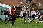 May Day Village Fair, the Glam Rock Band, The Look, and  the Kennet Morris men at the Perch and Pike pub South Stoke, Berkshire UK 2006.