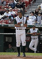 June 26, 2004:  Outfielder Grady Sizemore of the Buffalo Bisons, International League (AAA) affiliate of the Cleveland Indians, during a game at Dunn Tire Park in Buffalo, NY.  Photo by:  Mike Janes/Four Seam Images