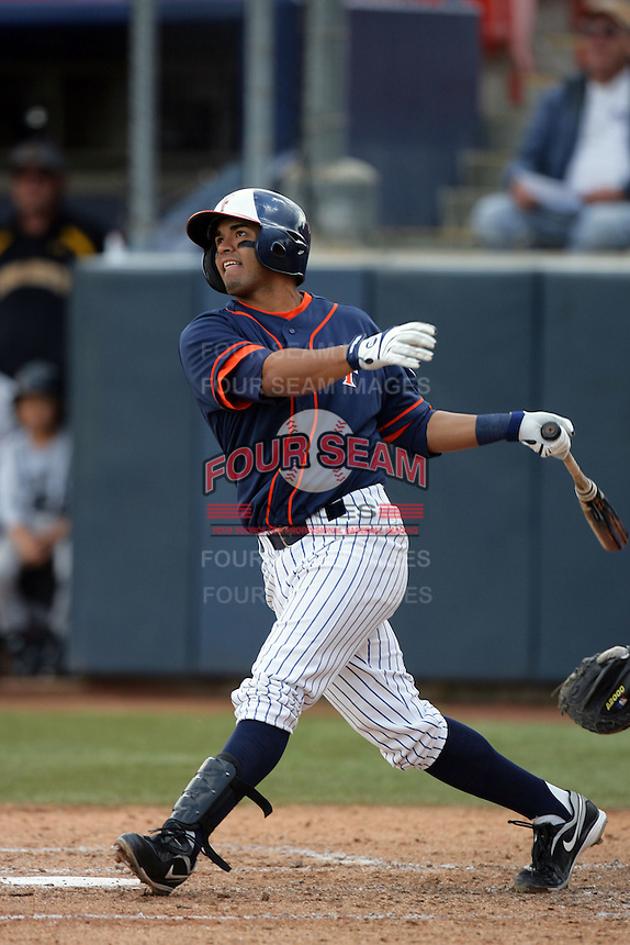February 21 2010: Christian Colon of Cal. St. Fullerton during game against Cal. St. Long Beach at Goodwin Field in Fullerton,CA.  Photo by Larry Goren/Four Seam Images