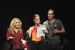 One Life To Live's Kristen Alderson, Gina Tognoni, Robert Bogue on stage heading the auction at the Daytime Stars and Strikes Charity Event to benefit the American Cancer Society at the Bowlmor Lanes, New York City, New York. (Photo by Sue Coflin/Max Photos)