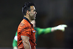 09 December 2011: Referee Chico Grajeda. The Creighton University Bluejays played the University of North Carolina Charlotte 49ers to a 0-0 overtime tie, the 49ers won the penalty shootout 4-1 to advance at Regions Park in Hoover, Alabama in an NCAA Division I Men's Soccer College Cup semifinal game.
