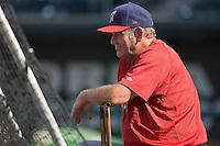 Huntsville Stars manager Don Money (7) watches batting practice at the Baseball Grounds in Jacksonville, FL, Thursday June 12, 2008.