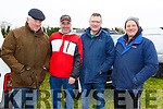 Bernie White (Rathkeale), Tom Whyte (Ballyduff), Tom White (Rathkeale) and Neil Hobbert (England) at the Castleisland Coursing meeting on Monday.