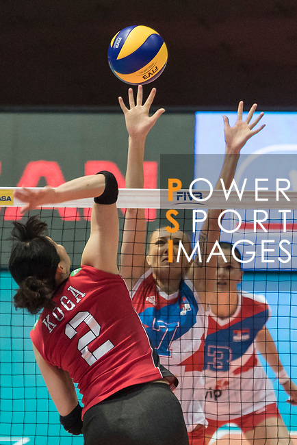 during the FIVB Volleyball World Grand Prix - Hong Kong 2017 match between Japan and Serbia on 22 July 2017, in Hong Kong, China. Photo by Yu Chun Christopher Wong / Power Sport Images