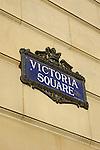 Victoria Square street sign in Birmingham England UK